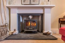 There's a log burning stove in the main sitting room which creates a beautiful atmosphere in the evening