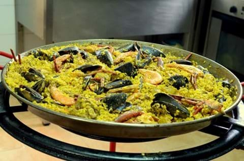 Order paella from our local takeaway