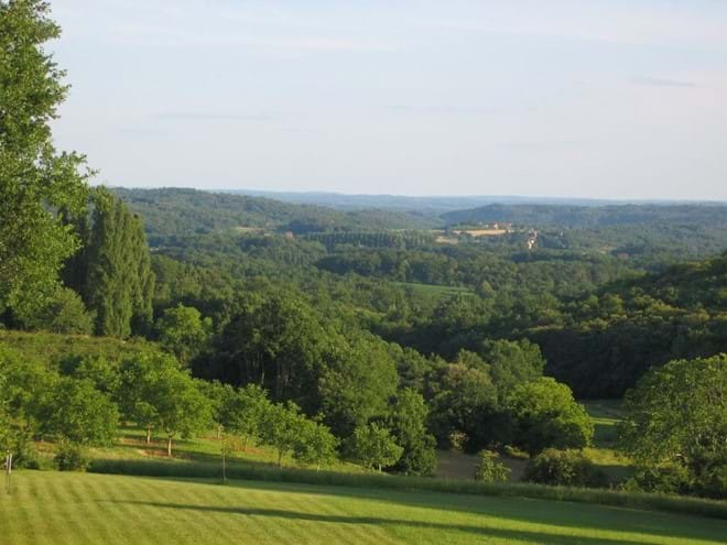 view from the gite of Dordogne towards Sarlat