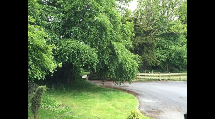 The driveway into The Old Stable and The Old Vicarage