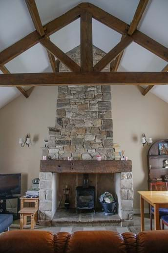 Sheephaven Fireplace and Beams