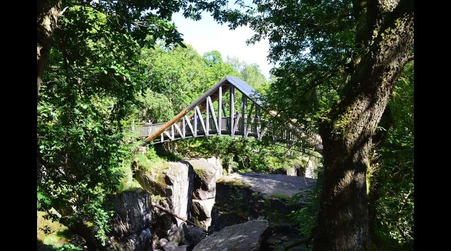 Bridge over nearby Bracklin Falls