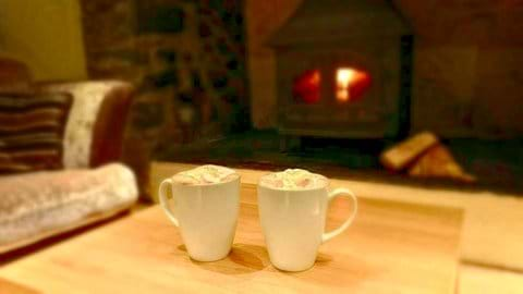 Hot chocolates by the Fire