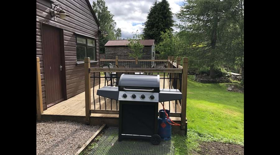 Gas barbeque for esclusive use of guests