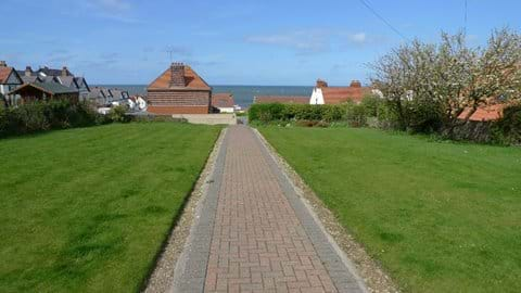 View to the sea from front garden