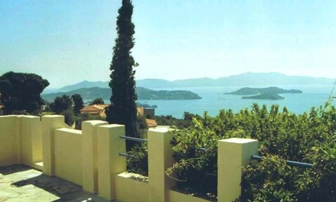 Orchard Villa - roof sun-terrace view, Skopelos in background