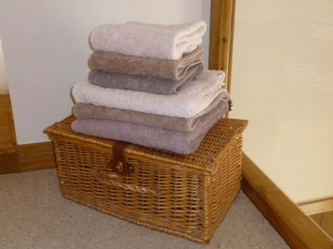 Bath and Hand Towels Provided