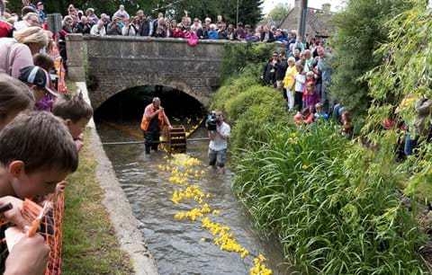 South Cerney duck race