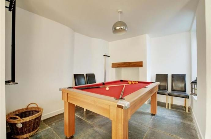 The Dining table/pool table- The Cornwall House