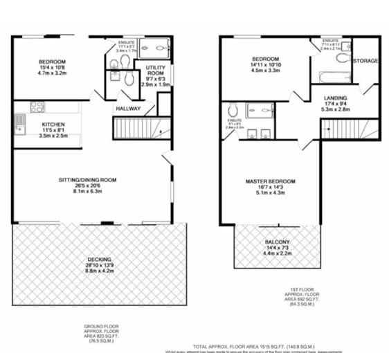 Floor plan of Waters Edge and Westlake Lodge