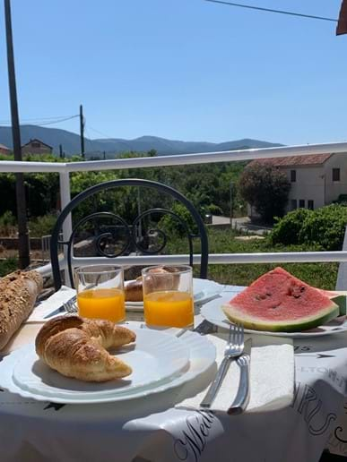 This balcony is perfect for breakfast as it