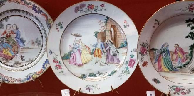 Gorgeous old porcelain plates, Adrien Debuche Museum, Limoges