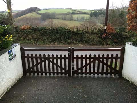 The front gate secures the garden