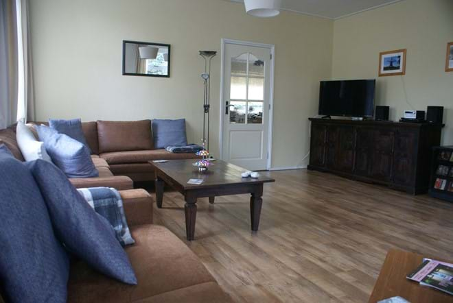 The large main room with SMART tv, sound system, WIFI...and enough sitting room for everyone