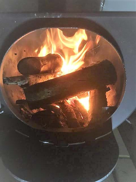 Log Burners in the Belle Tents