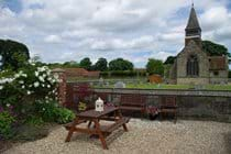 Garden Seating Area overlooking St Mary