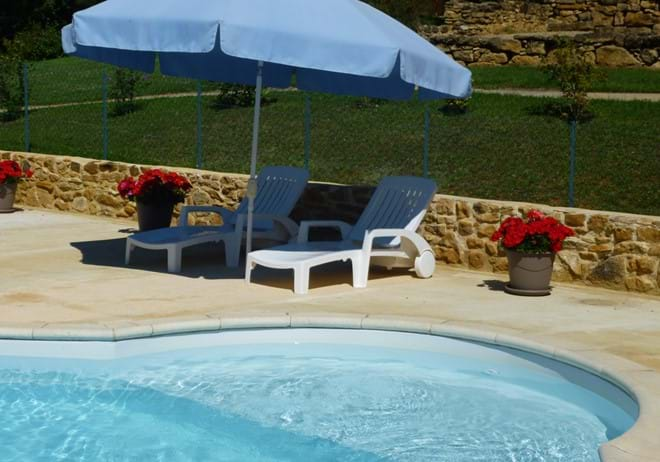 Our pool for gites near Sarlat and Lascaux