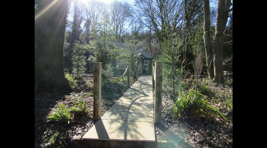 Pathway from the river to the cottage