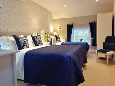 Beautiful bedroom with view of the Iron Bridge