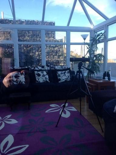 Lounge area at the boathouse with fantastic sea views where you can see our local seals