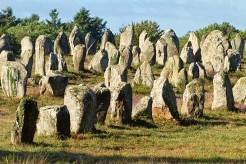 The menhirs at Carnac
