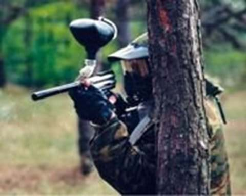 Paintball is great fun in the forest