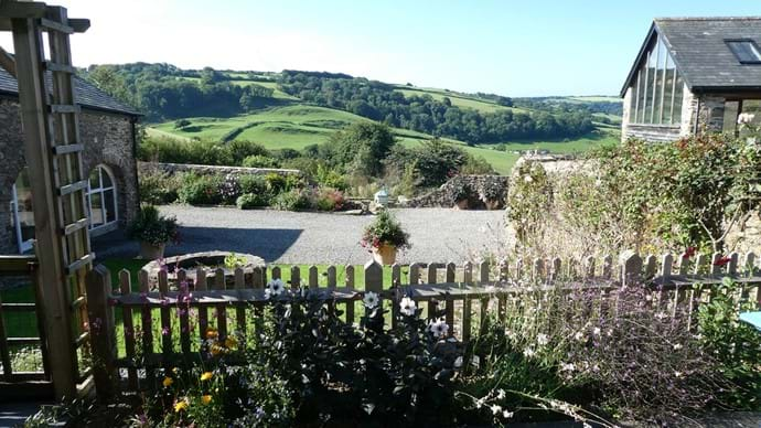 The beautiful view from Cider House terrace