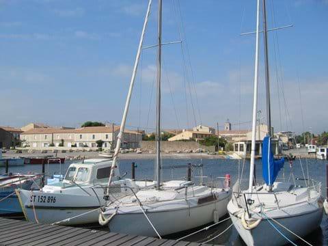 Looking at Marseillan Accommodation from the marina