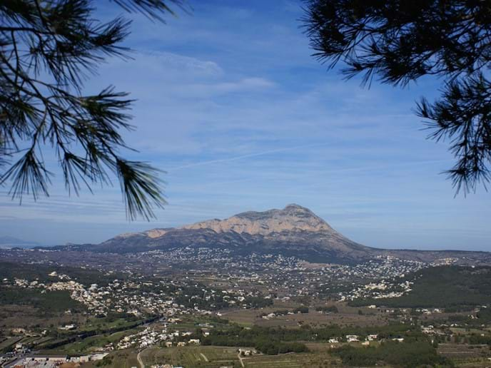 View of The Montgo mountain at Denia, also know as Elephant mountain due to it
