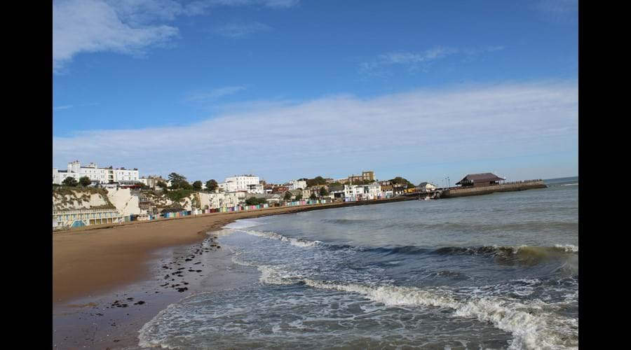 A view across Viking Bay - the main beach in Broadstairs