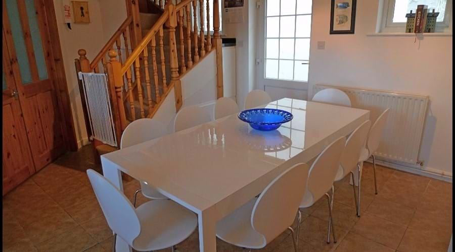 Luxury white gloss dining table