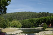 Bize-Minervois - swimming pool, river Cesse