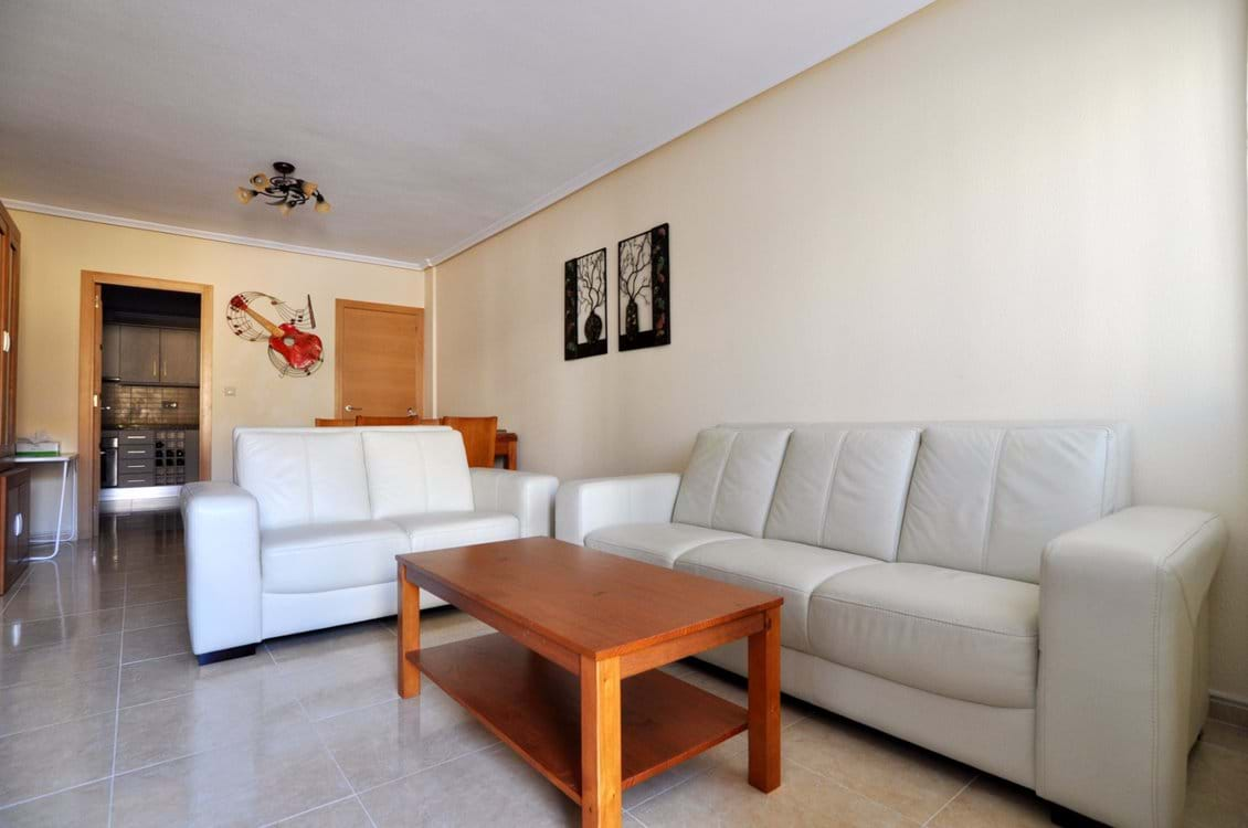 Spacious lounge with all the usual home comforts