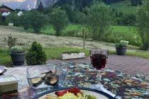 Al Fresco dining on our private terrace