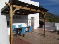 The Entrance and Terrace for Casita Ladera, 2 Bedroom House.