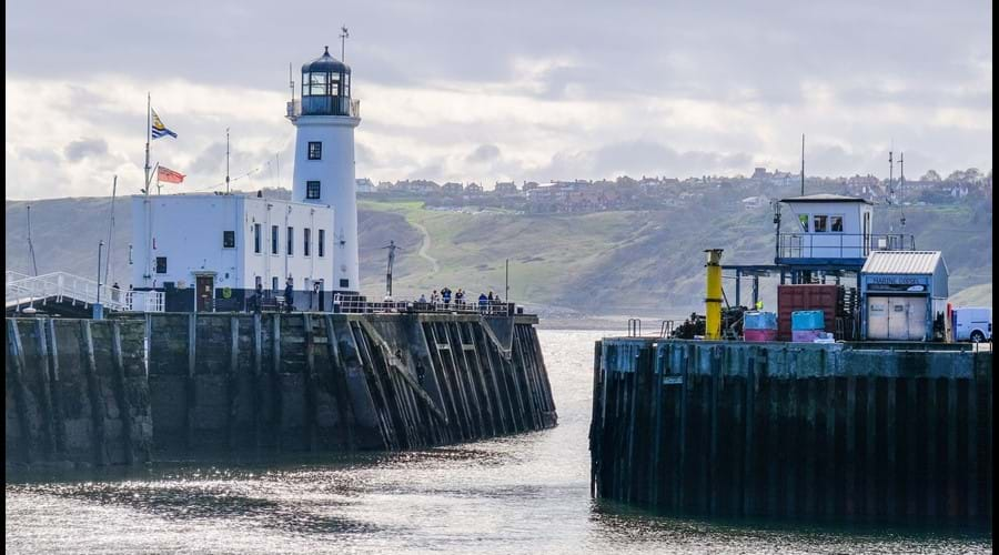 Scarborough harbour and lighthouse