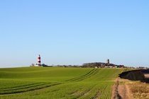 Happisburgh lighthouse and church