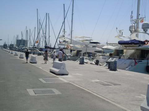 The port at Malaga