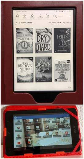 Kindle paperwhite and Android tablet - download and read any book you want, for free. It`s on us!