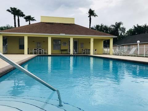 The Community Pool with ample seating