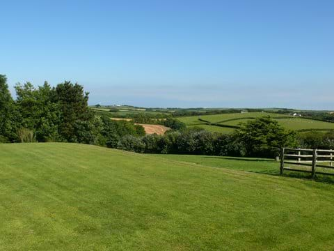 Views from the front lawn.  Where the countryside meets the sea!