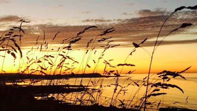 Lovely Sunset View  over Banff Beach