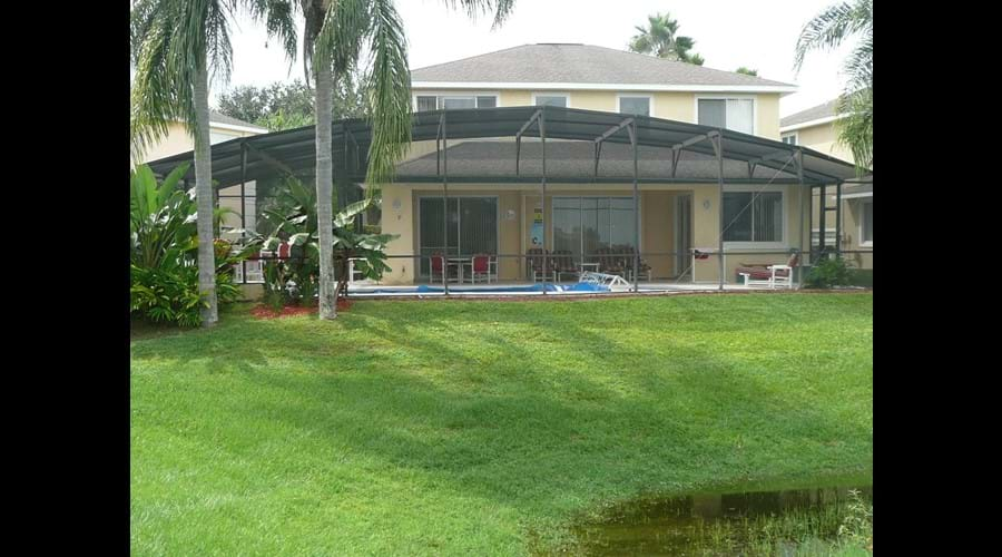 Extended decking and grill - One of the largest on Sunset Lake