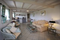 Large spacious living room/ kitchen. Views over looking the Valley. Gite Mineur