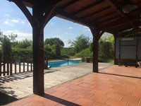 Terrace from Gite overlooking the Pool