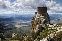 Quéribus castle - one of many Cathar castles to visit nearby