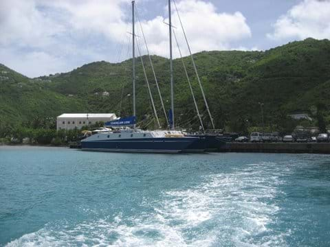 Leaving Peter Island Ferry Port - Tortola