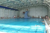 The main interior pool of the Aqua Park Brasov is very big, so you will have lots of space to swim.