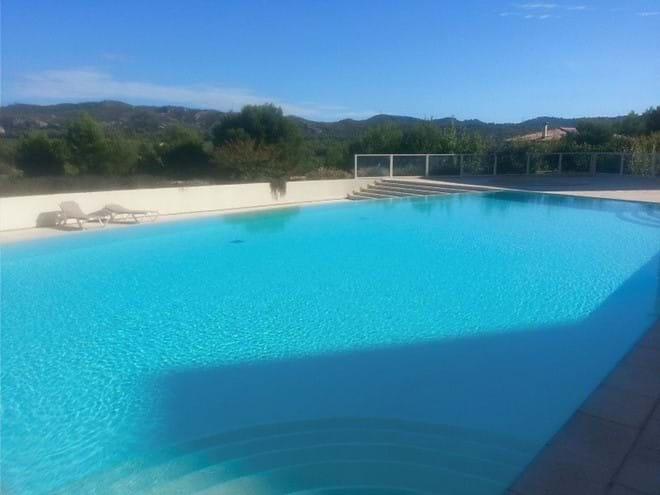 Infinity pool with beautiful views.