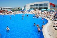 The outside pool of the Aqua Park Brasov has water maintained at high quality standards.
